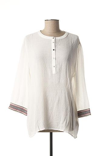 Blouse manches longues blanc EDC BY ESPRIT pour femme