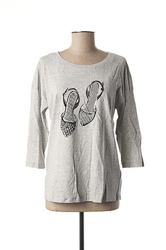 T-shirt manches longues gris ESPRIT pour femme