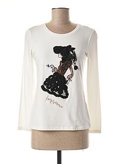 T-shirt manches courtes blanc FUEGO WOMAN pour femme