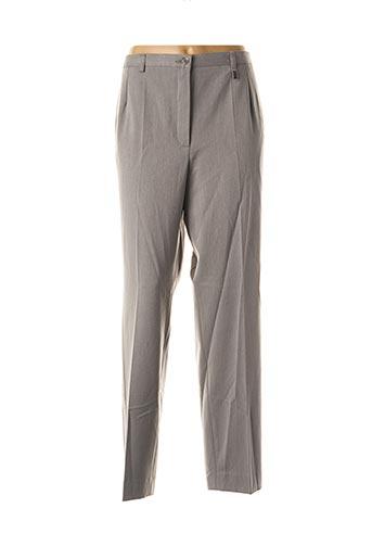 Pantalon chic gris ADELINA BY SCHEITER pour femme