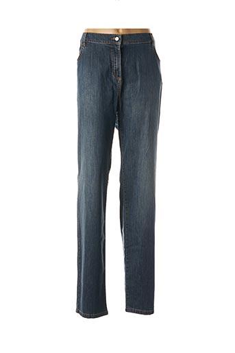 Pantalon casual bleu ELENA MIRO pour femme