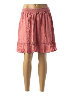 Jupe courte rose NAF NAF pour femme