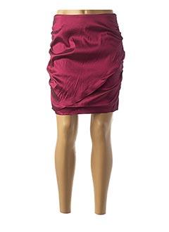 Jupe courte rouge NAF NAF pour femme