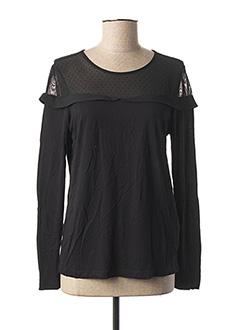 T-shirt manches longues noir NAF NAF pour femme
