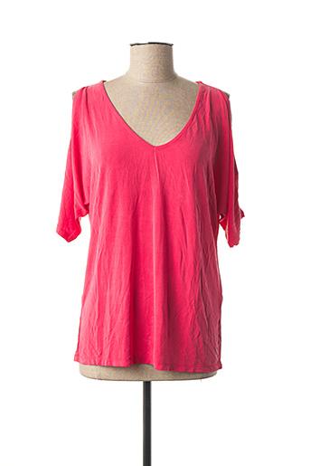 T-shirt manches courtes rose ZAPA pour femme