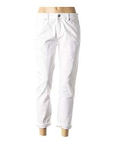 Jeans boyfriend blanc ZAPA pour femme