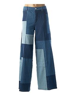 Jeans coupe large bleu MY TWIN pour femme