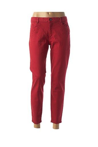 Pantalon 7/8 rouge NAF NAF pour femme