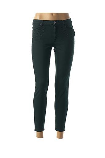 Pantalon 7/8 vert NAF NAF pour femme