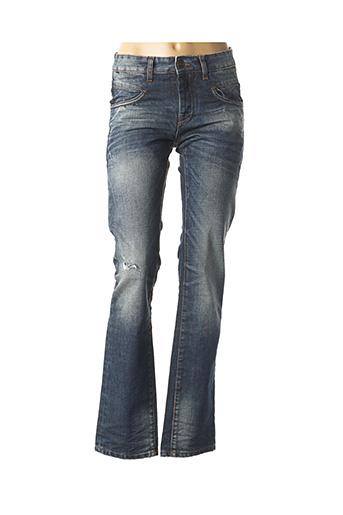 Jeans coupe droite bleu CARNET DE VOL pour femme