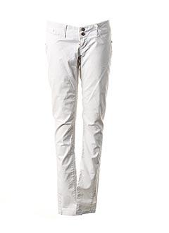 Pantalon casual blanc FRACOMINA pour femme