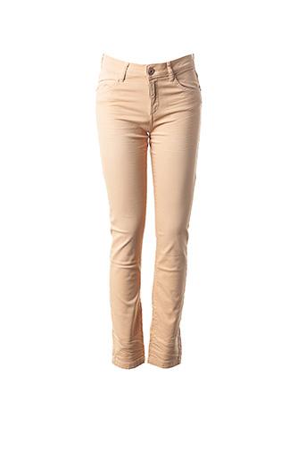 Jeans coupe slim beige COP COPINE pour femme