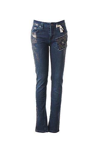 Jeans coupe slim bleu ET COMPAGNIE pour femme