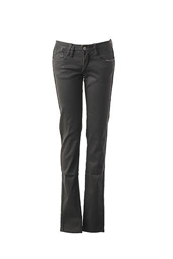 Jeans coupe slim gris LE TEMPS DES CERISES pour femme