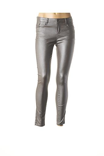 Pantalon casual beige CINDY.H pour femme