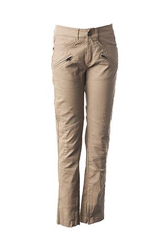 Pantalon casual beige IKKS pour femme