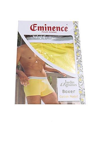Shorty/Boxer jaune EMINENCE pour homme