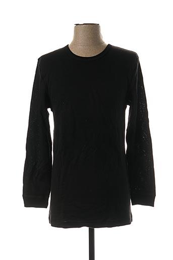T-shirt manches longues noir EMINENCE pour homme