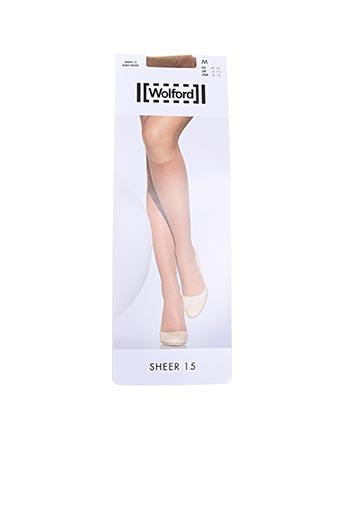 Chaussettes marron WOLFORD pour femme