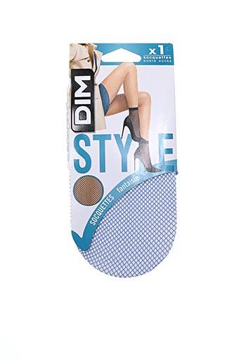Chaussettes bleu DIM pour femme