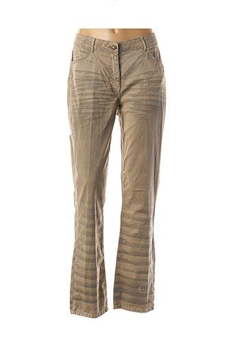 Pantalon casual beige APRICO pour femme