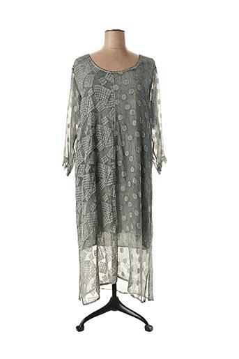 Robe mi-longue gris GRIZAS pour femme
