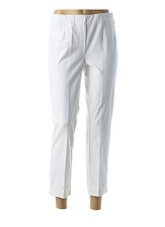 Pantalon 7/8 blanc JEAN GABRIEL pour femme
