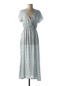 Robe longue bleu H&D pour femme