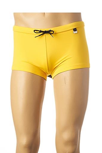 Short de bain jaune HOM pour homme