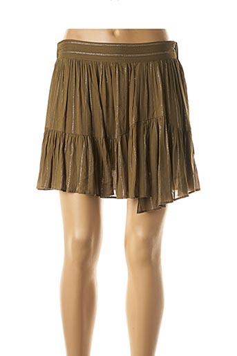 Mini-jupe vert SEE U SOON pour femme