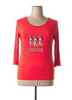 T-shirt manches longues rouge ANANKE pour femme