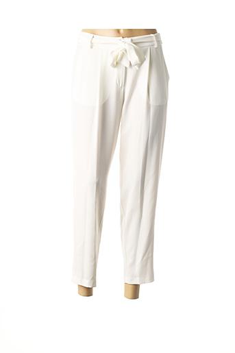 Pantalon 7/8 beige ELEONORA AMADEI pour femme
