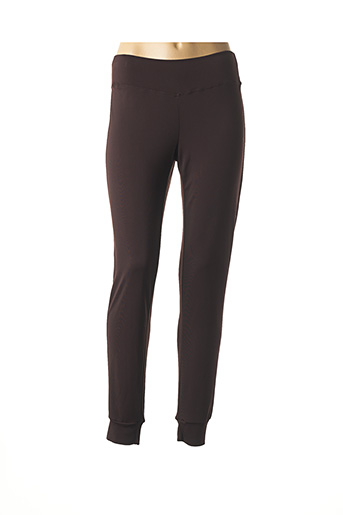 Pantalon casual marron ELEONORA AMADEI pour femme