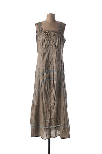 Robe mi-longue marron DECA pour femme