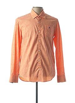 Chemise manches longues orange CAMBERABERO pour homme