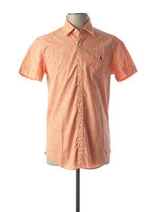 Chemise manches courtes orange CAMBERABERO pour homme