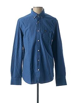 Chemise manches longues bleu CAMBERABERO pour homme