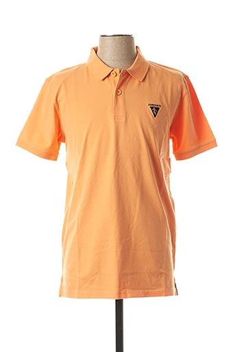 T-shirt manches courtes orange CAMBERABERO pour homme
