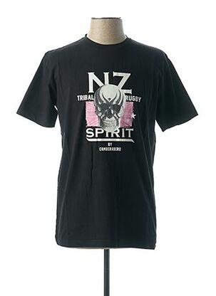 T-shirt manches courtes noir CAMBERABERO pour homme