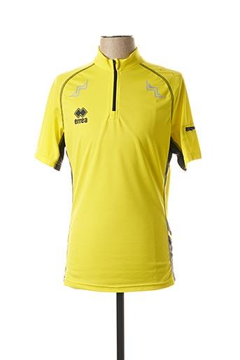 T-shirt manches courtes jaune ERREA pour homme