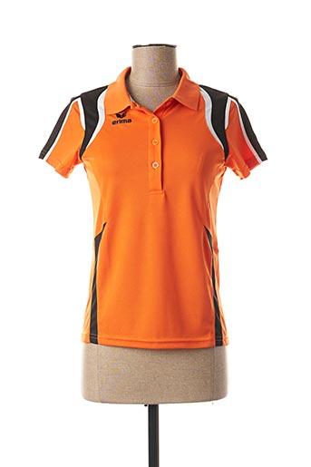 Polo manches courtes orange ERIMA pour femme