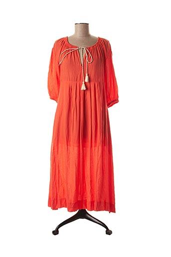 Robe mi-longue orange ARTLOVE pour femme
