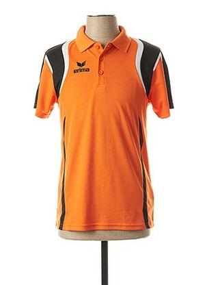 Polo manches courtes orange ERIMA pour homme
