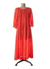 Robe mi-longue orange ARTLOVE pour femme seconde vue