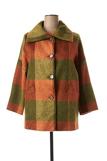 Manteau long vert FASHION S.A pour femme