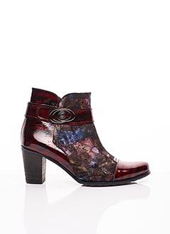 Bottines/Boots rouge UN TOUR EN VILLE pour femme