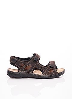 Sandales/Nu pieds marron AYOKA pour homme