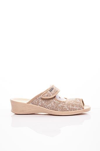 Chaussons/Pantoufles beige FARGEOT pour femme