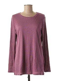T-shirt manches longues violet DAMART pour femme