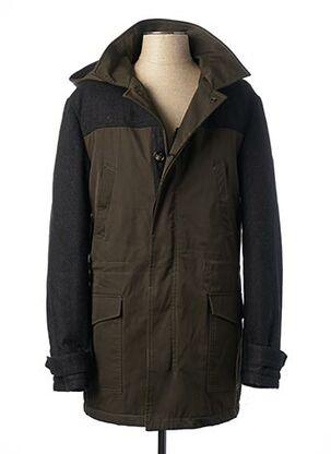 Manteau long vert JOHN BARRITT pour homme